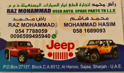 RAZ MOHAMMAD USED AUTO SPARE PARTS TR LLC ( JEEP PARTS )