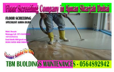 Floor Screeding & Leveling work Company in Ajman Dubai Sharjah