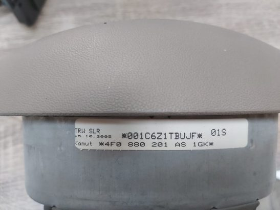 Audi A6 2005 TO 2008 STEERING WHEEL AIRBAG PART NO 4F0880201