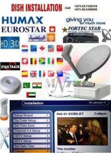 Satellite Dish Antenna Installation Dubai UAE