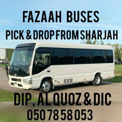 Pick & Drop From Sharjah To DIP IMPZ DPC JVC DIC Al Quoz Studio-Motor City Miracke Garden Umm Ramool