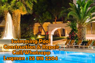 Jumeirah Park Swimming Pool Construction 0558182204