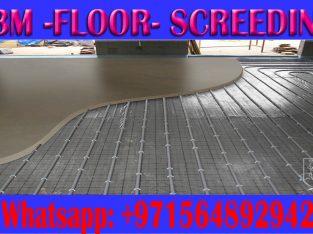 Floor Concrete screed Company in Ajman Dubai Sharjah