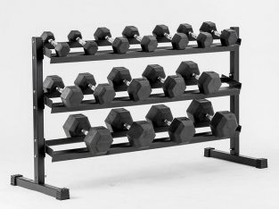 Top Quality Rubber and Iron Dumbbell Set With Rack in Dubai