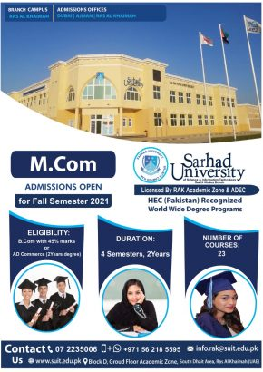 Admission are open