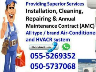 ac maintenance 055-5269352 chiller split air con fcu package unit central duct gas cooling repair clean