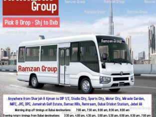 Pick and Drop from Sharjah to DIP / Motor City