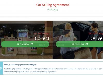 Dubai Muabaya Service ( Car Selling Agreement )