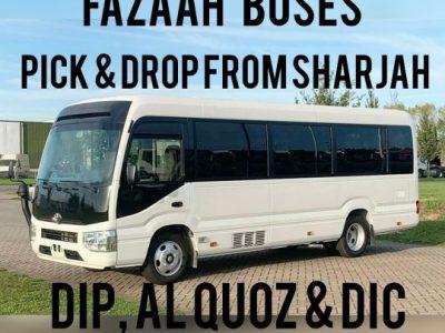 Sharjah to DIP IMPZ DPC AL Quoz Motor City Studio City JVC