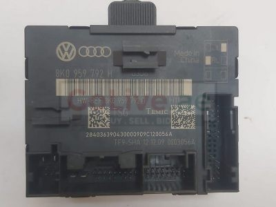 Audi A4 S4 A5 S5 Q5 2009 TO 2012 FRONT RIGHT Door Control Module PART NO 8K0959792H ( Genuine Used AUDI Parts )