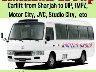 CAR LIFT Direct Sharjah to DIP, IMPZ, JABEL ALI, Motor City