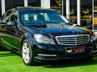 Mercedes Benz C-Class 2012 AED 28,000, GCC Spec, Good condition, Full Option, Sunroof, Lady Use, Navigation System, Fog Lights