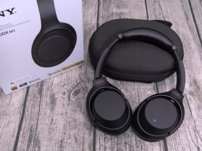 Sony MDR-1000X noise cancelling wireless headphone