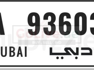 A Code Dubai Private Car Plate