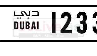 Dubai plate number