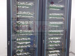 Fiber splicing structure cabling