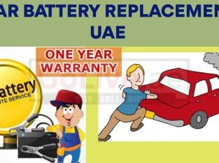 Car Battery Replacement UAE (1 Year Warranty)