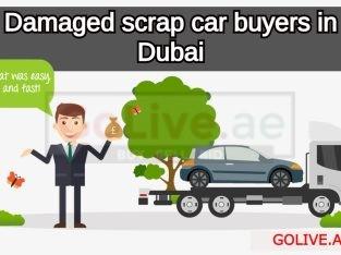 Damaged scrap car buyers in Dubai